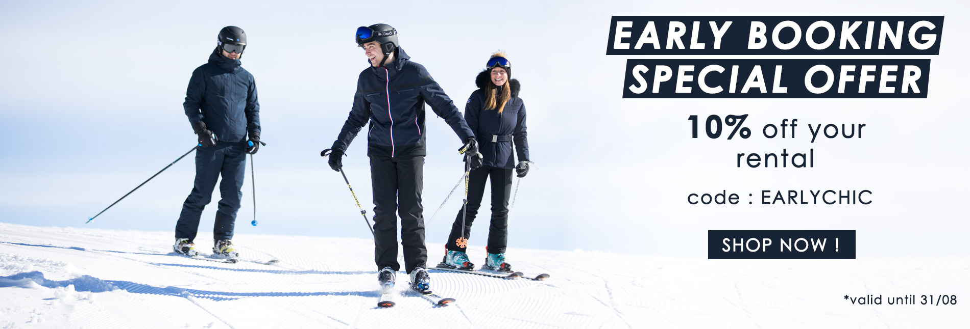 Early booking offer ski